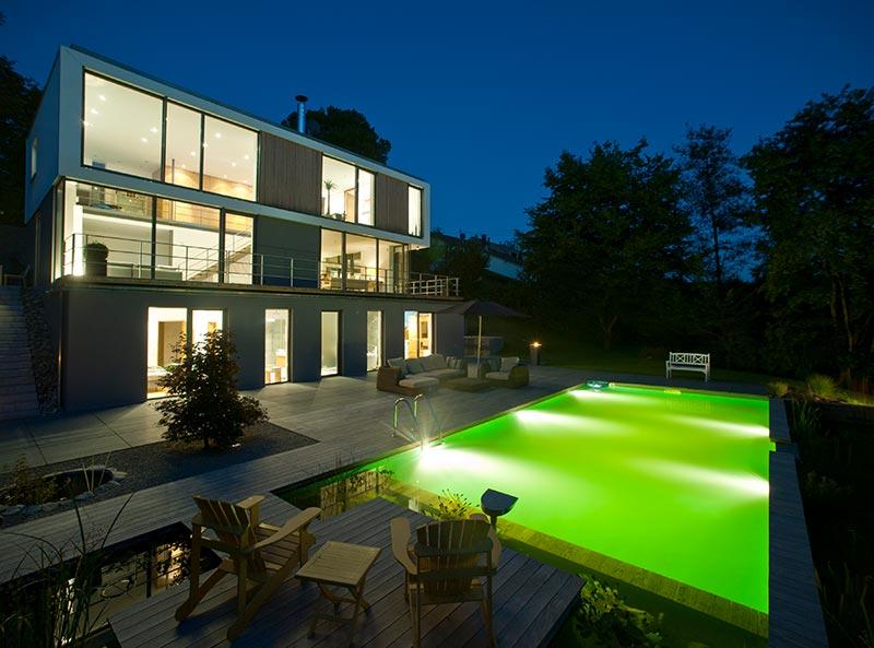 Gartenbau mit Swimmingpool