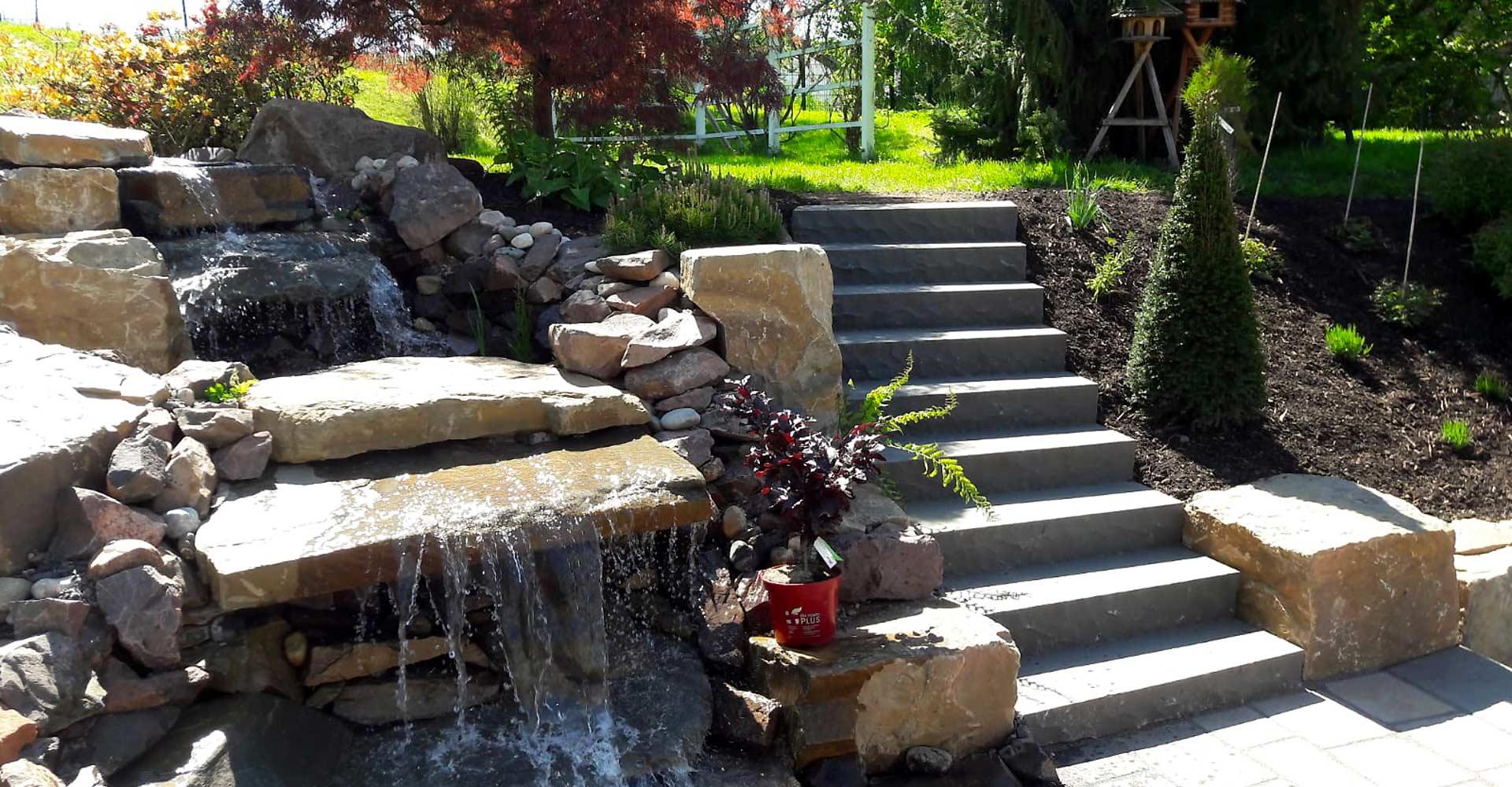 Gartengestaltung, Naturpools und Natursteine